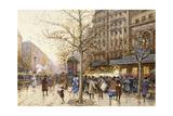 A Paris Street Scene Giclee Print by Eugene Galien-Laloue