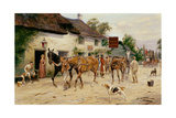 Changing Horses at the Red Lion Giclee Print by George Wright