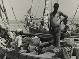 Haitian Vendors on a Sailboat, 1941 Photographic Print