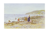 On the Beach Giclee Print by Helen Allingham