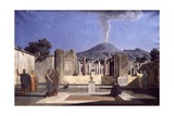 Ruins of Pompeii Giclee Print by Paul Alfred De Curzon