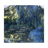 View of the Lilypond with Willow, C.1917-1919 Impressão giclée por Claude Monet
