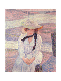 Young Woman on the Banks of the Greve River, 1901 Giclee Print by Theo van Rysselberghe