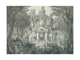 A Portal at Angkor Thom, 1873 Giclee Print by Louis Delaporte