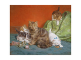 Playful Kittens Giclee Print by Daniel Merlin