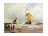 Schevenegen Beach Giclee Print by Thomas Hardy