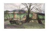 Farmland in Autumn Giclee Print by John Northcote Nash