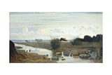 Lido with Cattle Grazing Giclee Print by Giuseppe Abbati