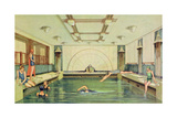 The Swimming Pool Aboard the 'Empress of Japan' Giclee Print