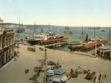 Harbour and Muelle Luz, Havana, 1904 Photographic Print