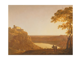 Lake Nemi at Sunset, C.1790 Giclee Print by Joseph Wright of Derby