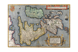 A Map of Great Britain, 1587 Giclee Print by Abraham Ortelius