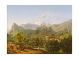 View of the Town of Sion in Valais, 1810 Giclee Print by Lancelot Theodore Turpin de Crisse
