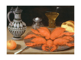 Crayfish on a Pewter Plate Giclee Print by Gotthardt Von Wedig