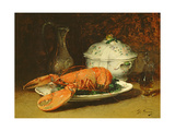 Still Life with a Lobster and a Soup Tureen Giclee Print by Guillaume Romain Fouace