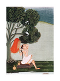 Indian Lady at Her Toilet Dressing Her Hair Giclee Print