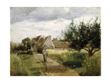 Entrance of a Village, C.1863 Giclee Print by Camille Pissarro