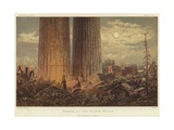 Temple of the Giants in Sicily Giclee Print by George Henry Andrews