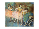 Danseuses Vertes Et Jaunes, C.1903 Giclee Print by Edgar Degas