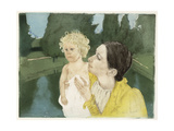 By the Pond, C.1898 Giclee Print by Mary Cassatt