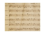 Music Score from Opera I Giclee Print by Arcangelo Corelli