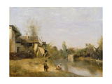 Riverbank at Mery Sur Seine, Aube, C.1870 Giclee Print by Jean Baptiste Camille Corot