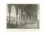 Court of the Lions, Alhambra, Granada, Spain Giclee Print by Philibert Joseph Girault de Prangey
