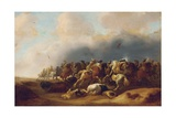 A Cavalry Engagement Giclee Print by Palamedes Palamedesz