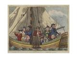 A Sea Voyage, 1796 Giclee Print by Isaac Robert Cruikshank