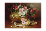 Still Life with a Fan Giclee Print by Eugene Henri Cauchois