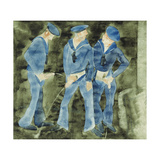 Three Sailors Giclée-trykk av Charles Demuth