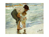 On the Beach, 1908 Giclee Print by Joaquín Sorolla y Bastida