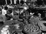 Outdoor Market in Port-Au-Prince, Haiti, 1986 Photographic Print