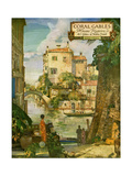 """Ideal Florida Homes at Coral Gables, 1926 Giclee Print"