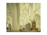 Interior of Antwerp Cathedral, C.1668 Giclee Print by Isaac van Nickele