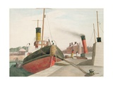 Bristol Docks Giclee Print by John Northcote Nash