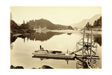 Floating Salmon Wheel, Cascades, 1867 Giclee Print by Carleton Emmons Watkins