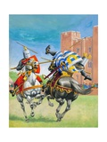 Joust Giclee Print by Pat Nicolle