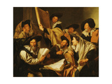 A Rabbinical Disputation Giclee Print by Jacob Toorenvliet
