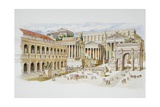 Roman Forum Giclee Print by  Italian School