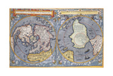 North and South Poles, 1593 Giclee Print by Gerard De Jode