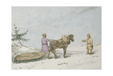 Finland Sledge, 1803 Giclee Print by John Augustus Atkinson