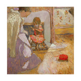 The Red Ball of Wool, C.1903-05 Giclee Print by Edouard Vuillard