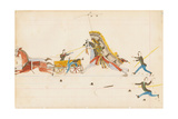 Howling Wolf Fighting Soldiers, 1874-75 Giclee Print