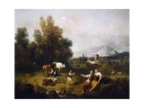 Pastoral Scene Giclee Print by Francesco Zuccarelli