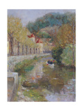 Canal at Noyers, Burgundy, 2002 Giclee Print by Karen Armitage