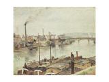 The Port of Rouen, 1883 Reproduction procédé giclée par Camille Pissarro