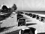 Cabanas on a Fort Lauderdale Beach, 1954 Photographic Print