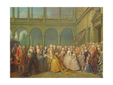 The Meeting at Neuhaus in Bohemia, 24th May 1737 Giclee Print by Louis de Silvestre