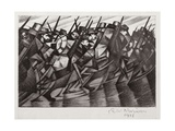 Troops Returning to the Trenches, 1916 Giclee Print by Christopher Richard Wynne Nevinson